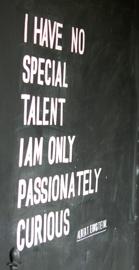 No tengo un talento especial. Solo soy apasionadamente curioso. Albert Einsten (algo teníamos en común).