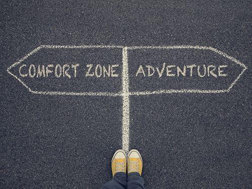 comfort zone - adventure