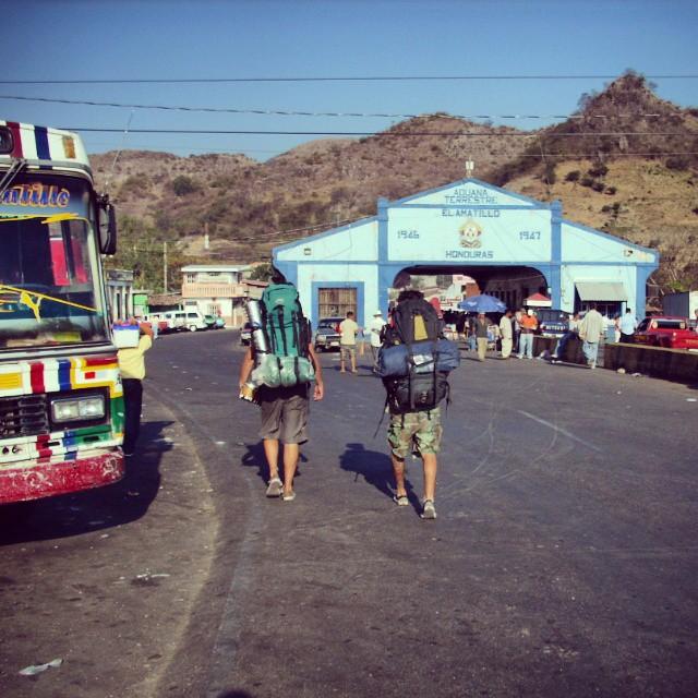 Frontera de El Amatillo entre Honduras y ElSalvador