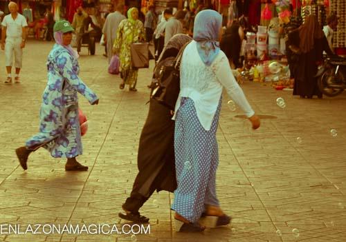 mujeres en Marrakech