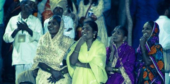Mujeres indias en Bangalore