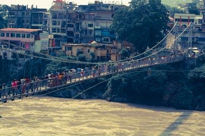 Rishikesh y el puente Laxman Jhula
